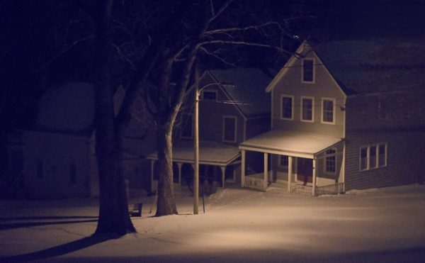 snowscape at night